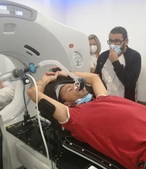 Preparación para un tratamiento en respiración mantenida